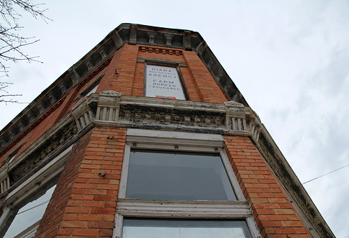 county windows winter building brick sign calhoun michigan branches structure historic commercial homer twostory brackets cornice corbelled corbelling