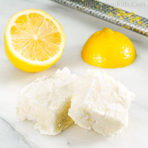 Quick Lemon-Coconut Fudge