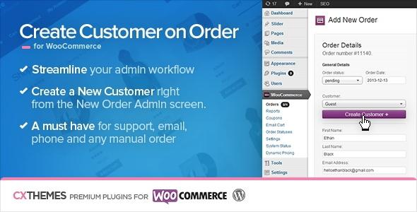 Create Customer on Order v1.17 for WooCommerce