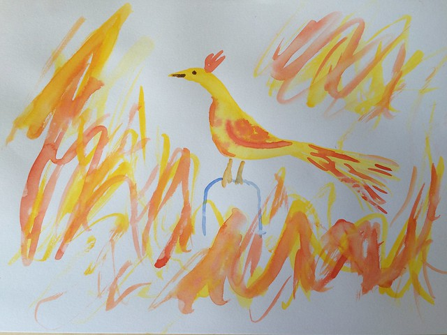 Phoenix water colour