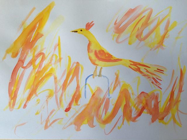 Phoenix water colour