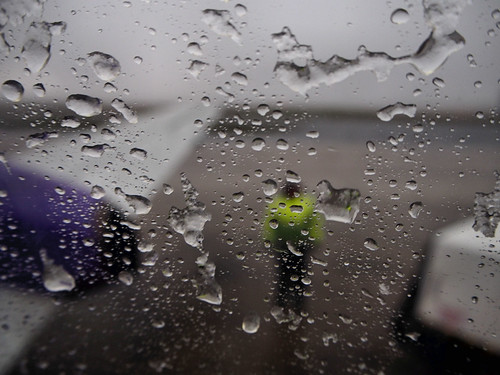 A very wet day in Kirkwall airport