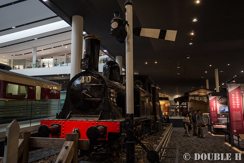 "Kyoto Railway Museum (41) Museum 1F ""history of railways"" SL1800-1801"