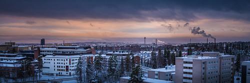 city winter sunset panorama snow cold suomi finland landscape scenery december cityscape view cloudy lumi talvi tampere maisema tays kaupunki joulukuu pakkanen