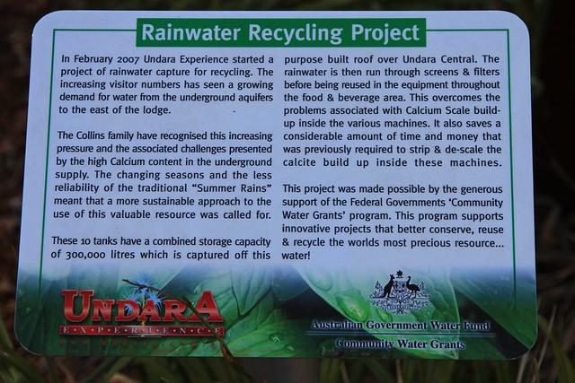 澳洲昆士蘭Undara Experience-雨水回收處理系統說明-20141116-賴鵬智攝