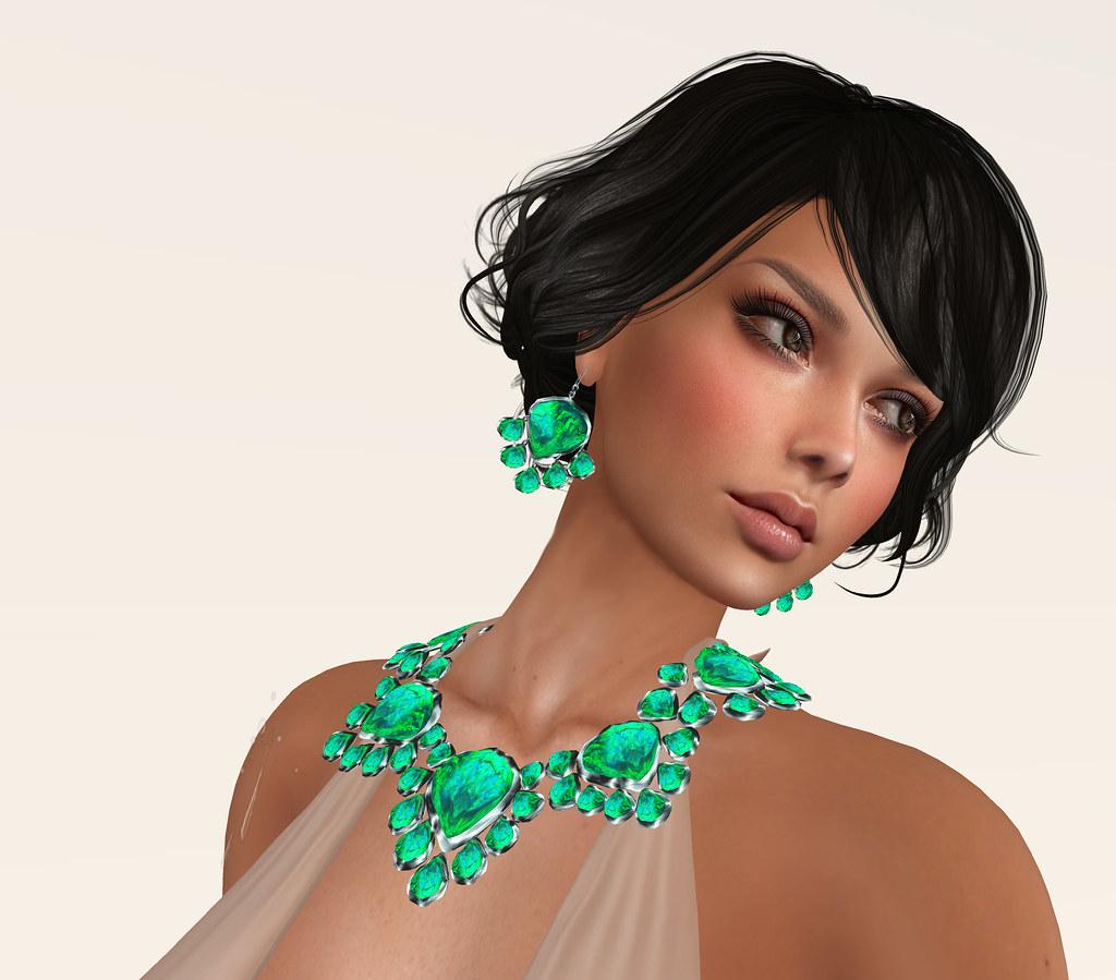 Aurora-lime opal, Zuri Rayna Jewelry, Argrace hair