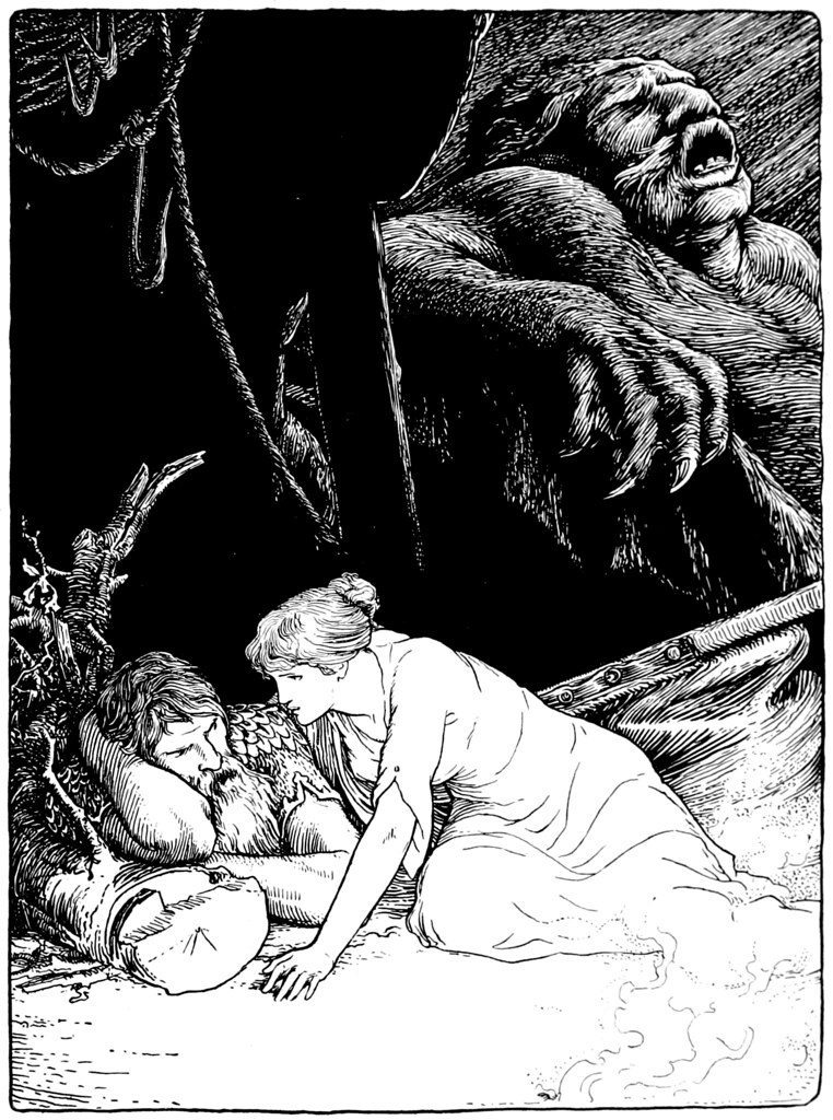 "John D Batten - Third illustration from ""More Celtic Fairy Tales,"" 1892"