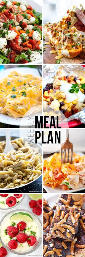 Week 32. Collaborative weekly meal planning. 9 bloggers. 6 dinner ideas, one-weekend breakfast plus 2 desserts every single week equals one heck of a delicious menu!
