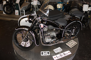 Perfect condition 1954 EMW R 35-3 motorcycle with sidecar