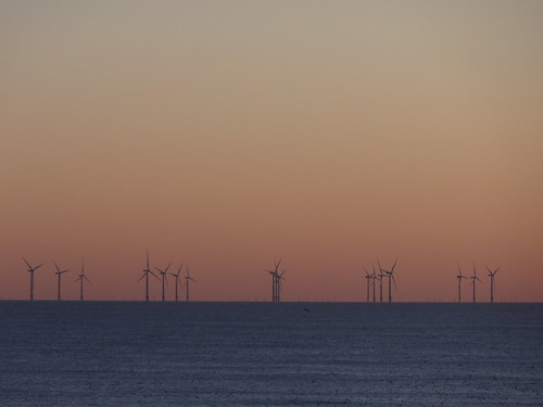 Winter sunset on the Sunshine Coast: Gunfleet Sands Offshore Wind Farm