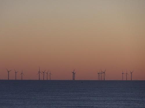 Winter sunset on the Sunshine Coast: Gunfleet Sands Offshore Wind Farm