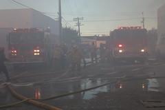 Los Angeles Firefighters Battle Major Emergency Fire in Glassell Park