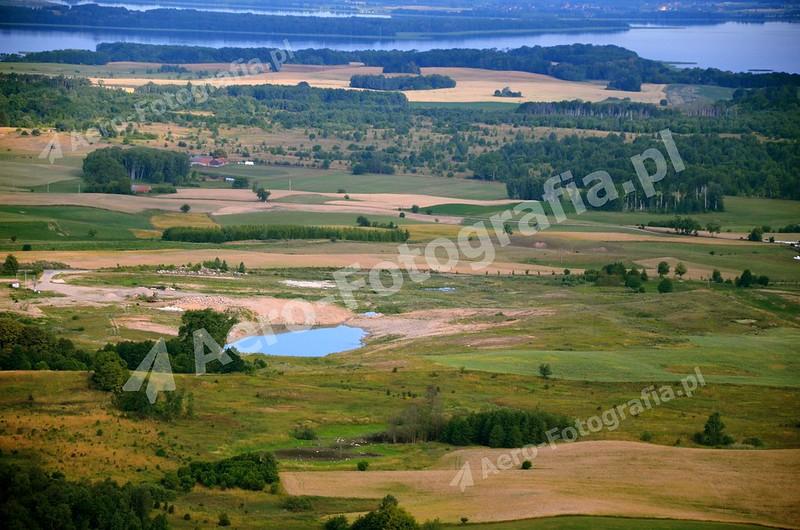 Mazurski krajobraz wakacyjną porą.