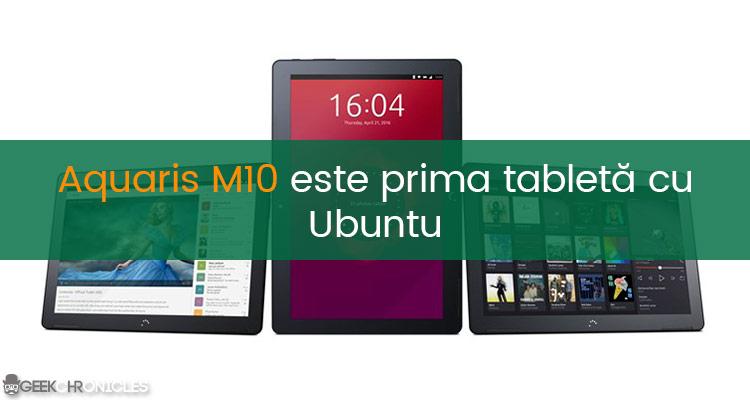 prima tableta cu ubuntu
