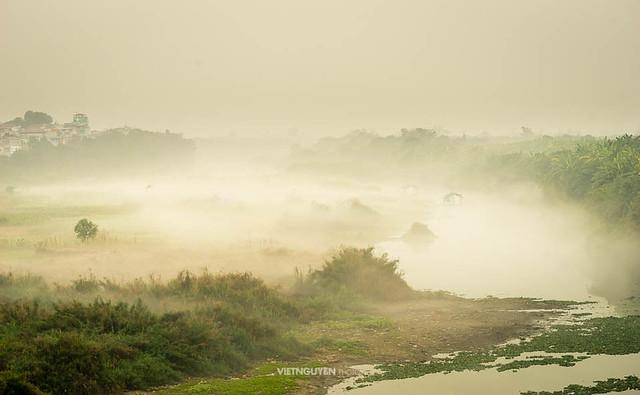 misty morning in Long Bien