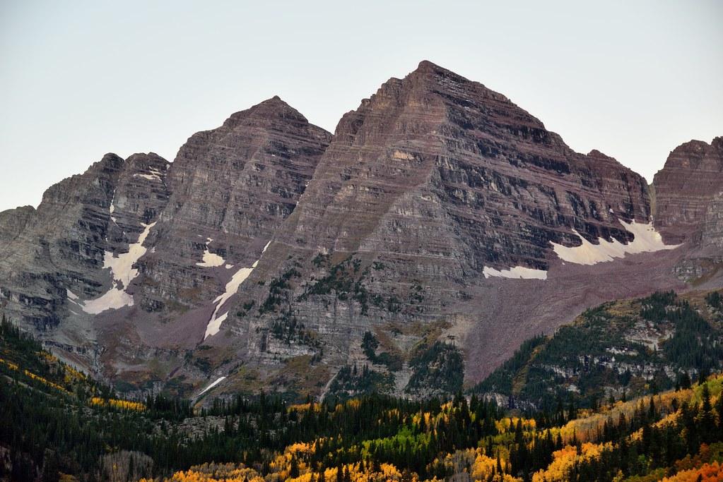Looking to the Peaks of Maroon Bells (Colorado)