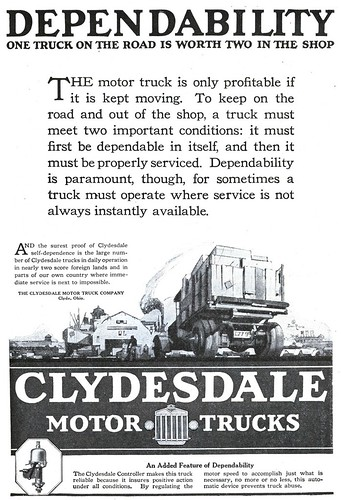 Clydesdale Motor Truck Company - 19201023 Literary Digest