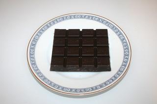 11 - Zutat zartbittere Schokolade / Ingredient bittersweet chocolate