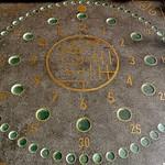 Image of Clock of Lights. barcelona clock lights spain pavement reloj curiosity orologio klok uhr 時計