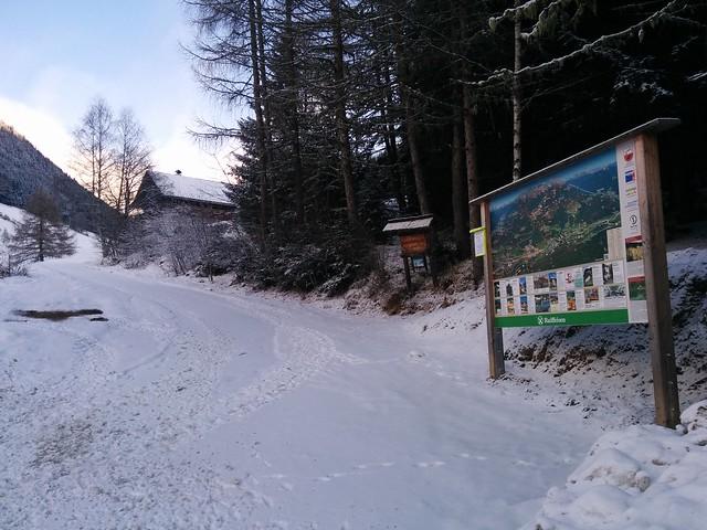 Ausgangspunkt zur Gönner Alm in Oberwielenbach