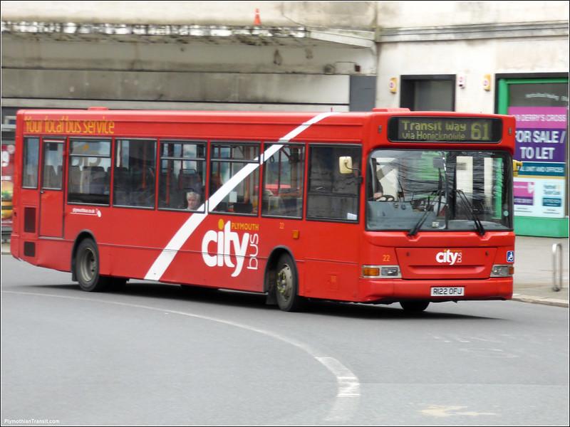 Plymouth Citybus 022 R122OFJ