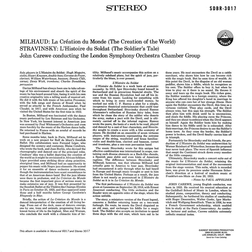 Darius Milhaud - La création du monde