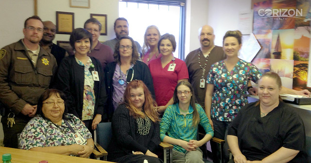 Arizona correctional officer thanks Corizon Health medical staff for spirit of teamwork