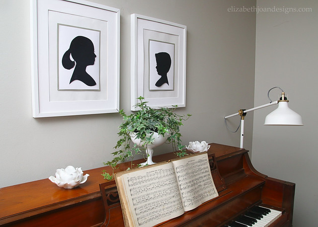 Piano Music Light Silhouettes