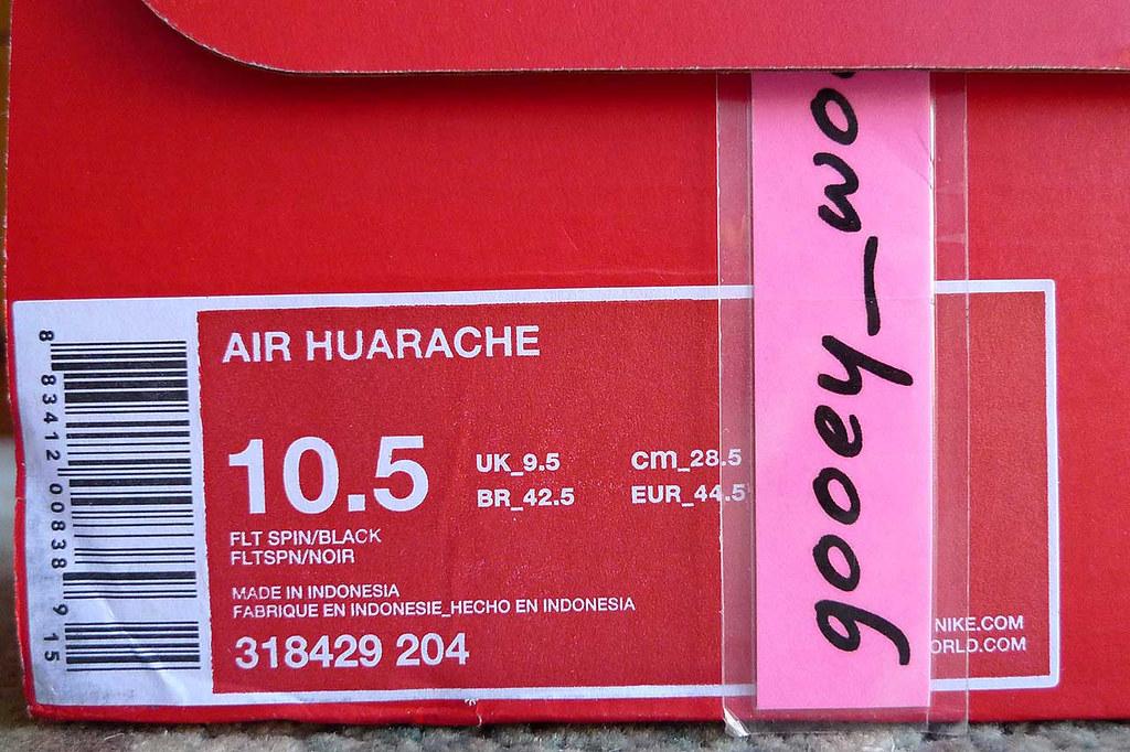 size 40 c3969 af686 Nike Air Huarache Flint Spin  Black (318429 204) (14).
