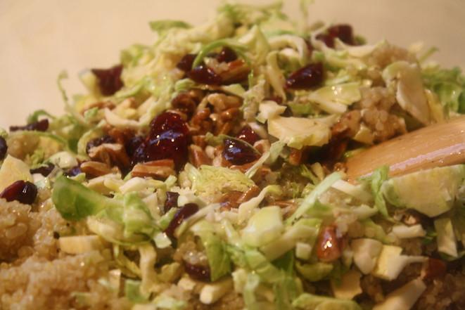 Brussels Sprouts, Cranberry, Quinoa Salad