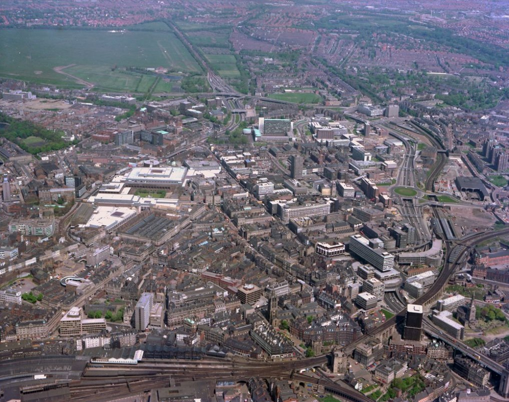 Newcastle City Centre from the air