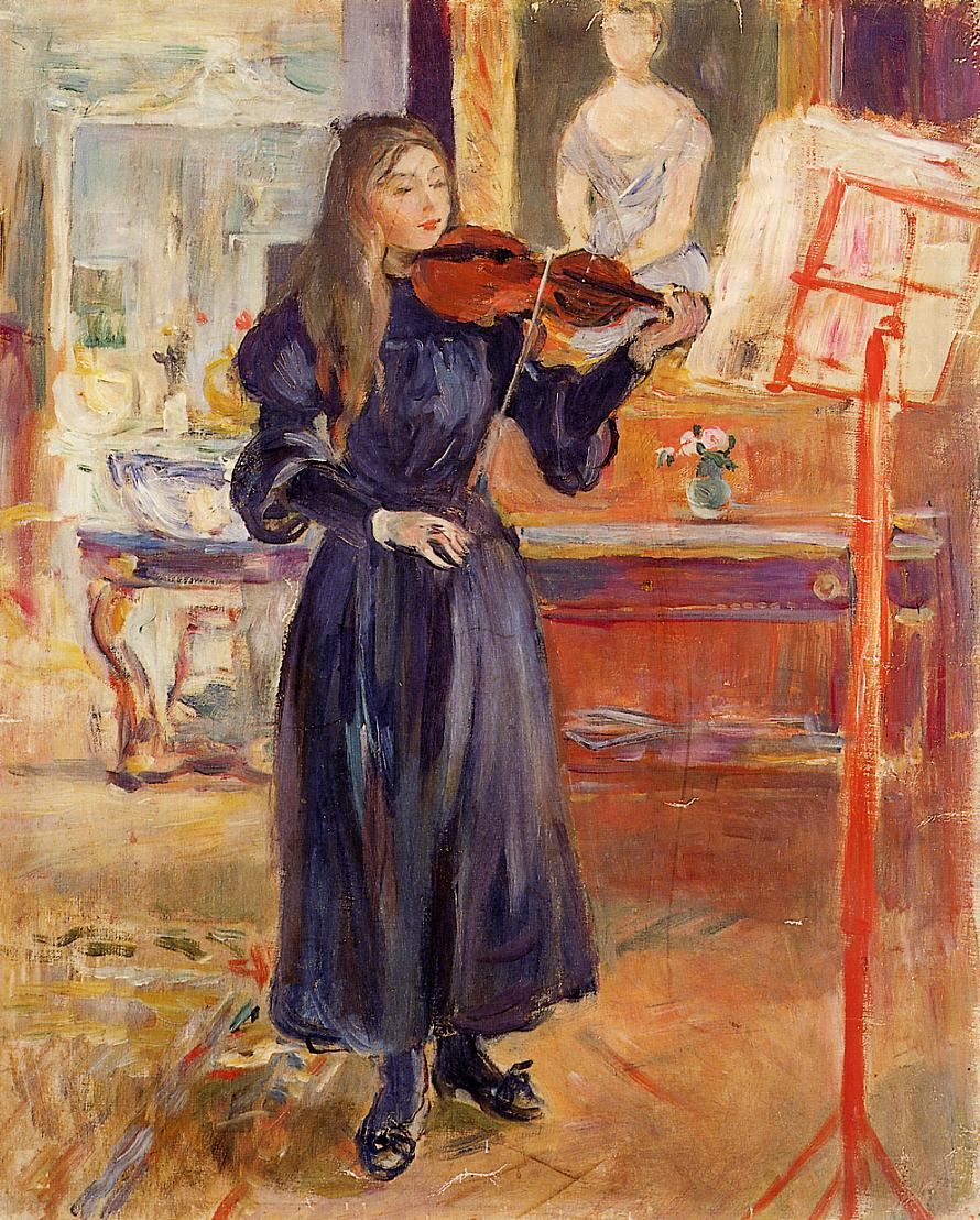 Studying the Violin by Berthe Morisot, 1893