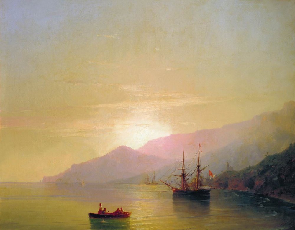 Ships at anchor by Ivan Aivazovsky, 1851