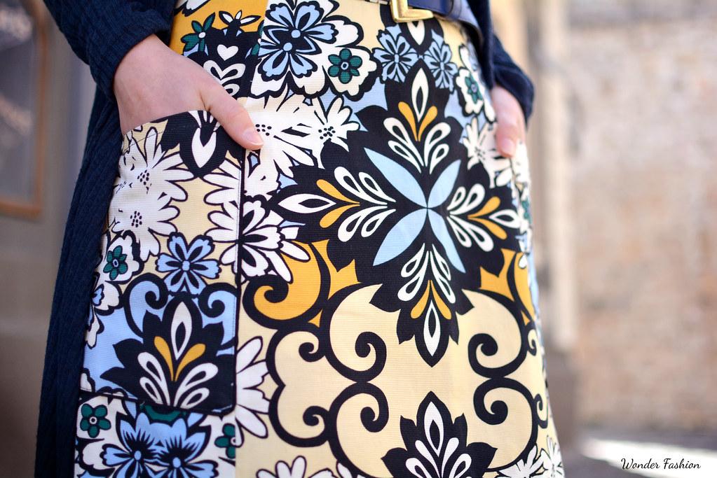 pucci print skirt