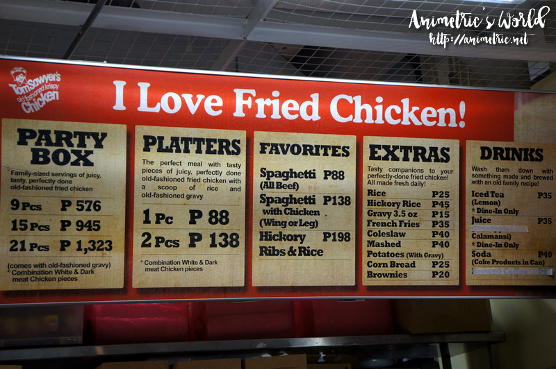 Tom Sawyer's Old Fashioned Fried Chicken