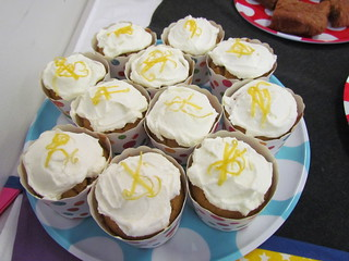 Coconut Cornmeal Cupcakes with Lemon Icing