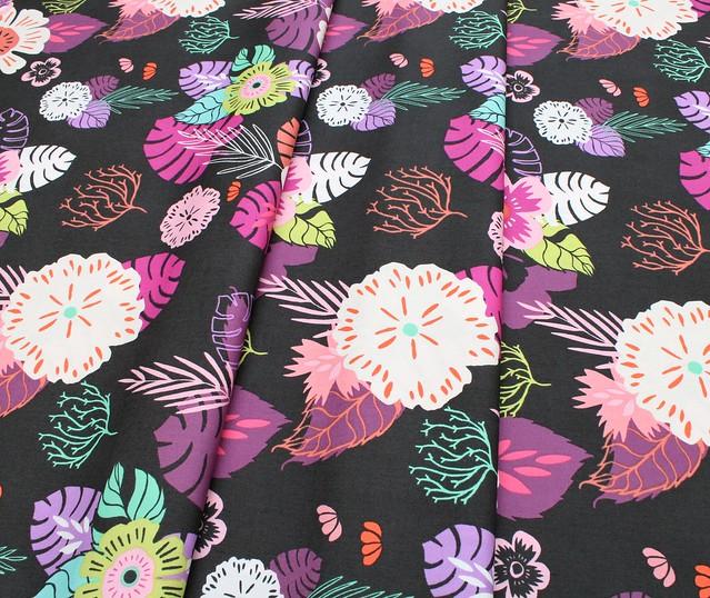 Art Gallery Fabrics Sirena Ocean Floret Storm