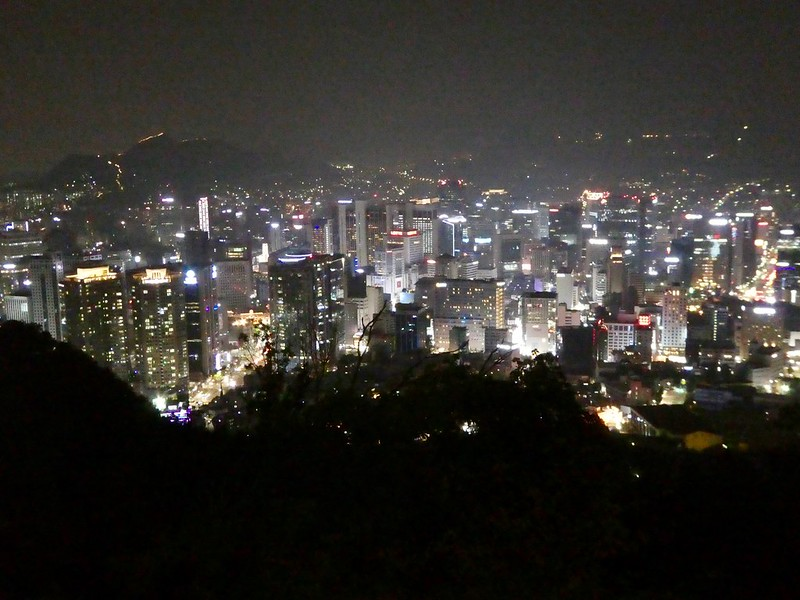 Seoul from Namsan Seoul Tower at night