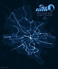 Bucharest night buses (2018)