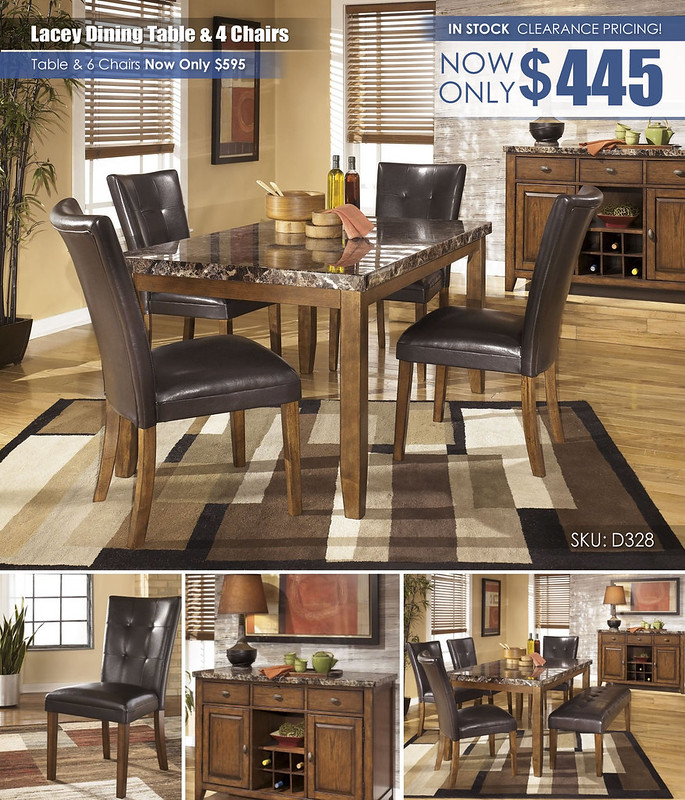 Lacey Dining Table & 4 Chairs_Clearance D328