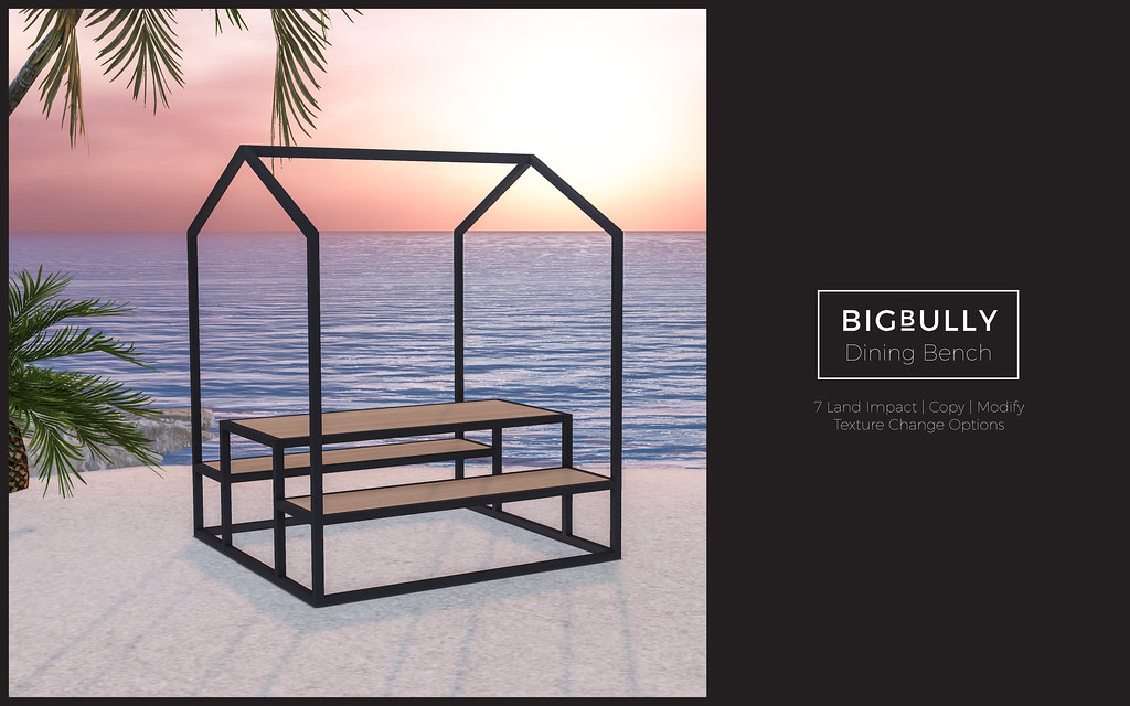 BIGBULLY Dining Bench - equal10 - TeleportHub.com Live!