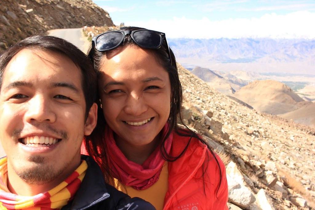 Cali and I in Khardung-La Pass, Ladakh, India