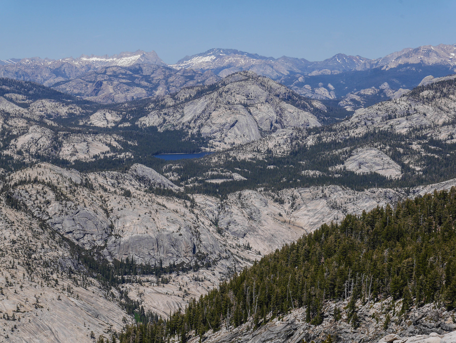 Tenaya Lake + high ountry from Clouds Rest