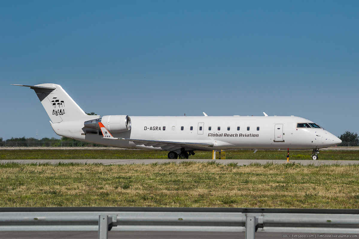 Bombardier CRJ-200LR D-AGRA Global Reach Aviation Depeche Mode