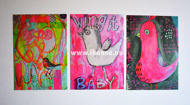 For sale: kit of 3 printed postcards (the birds)