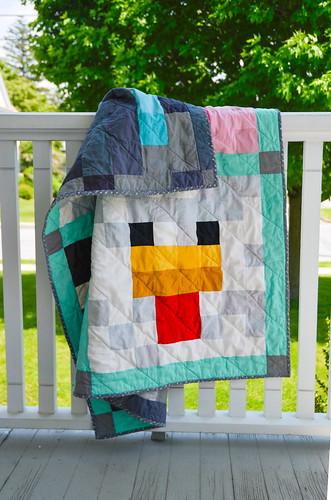 Minecraft Inspired Baby Quilt