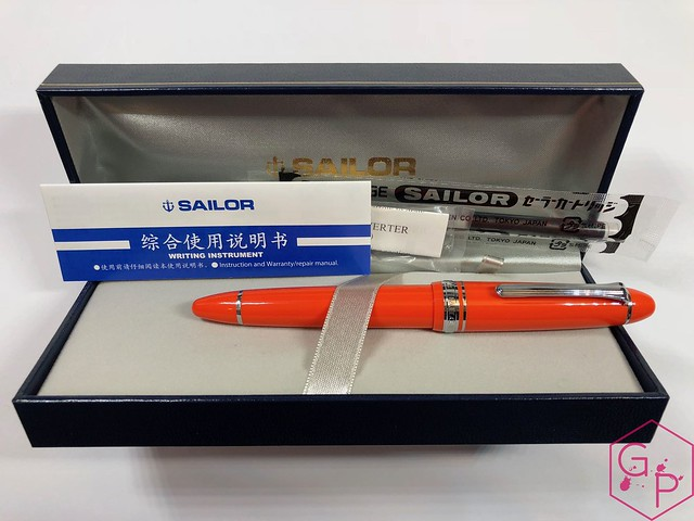 Sailor 1911 Large Royal Tangerine Fountain Pen Review @PenChalet 3