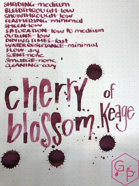 Kyo-Iro Cherry Blossoms of Keage Ink Review @PhidonPens 12