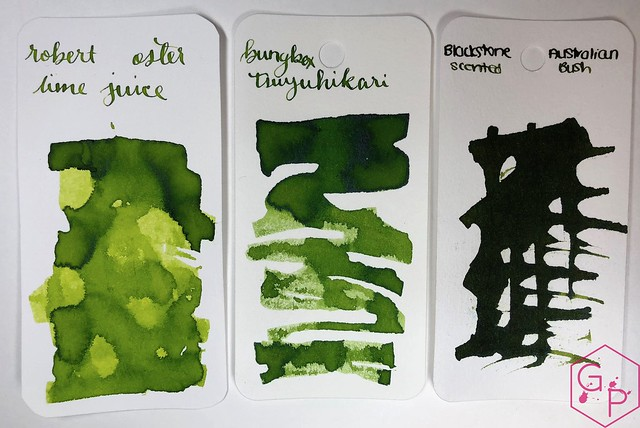 @RobertOsterInk Lime Juice Ink Review @MilligramStore 11