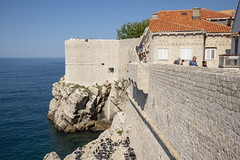 Tourists on the wall around the old city, Dubrovnik, Croatia (2)